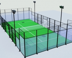 Projet court couvert et combiné mini-tennis/padel